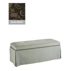 Home Decorators Collection - Skirted Bench with Nailhead Trim - Whether you prefer contemporary or traditional decors, you are sure to appreciate having this bench as a part of your decor. With so many beautiful upholstery options available and style that will accent any room, this bench will blend easily with your decor and enhance any room with comfort and fashionable flair. Order today. Quality crafted for years of lasting use. Choose from a wide variety of beautiful upholstery options. Made to order and delivered in approximately 8-10 weeks.