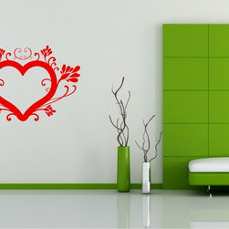 StickONmania - Flowering Heart Sticker - A cool vinyl decal wall art decoration for your home  Decorate your home with original vinyl decals made to order in our shop located in the USA. We only use the best equipment and materials to guarantee the everlasting quality of each vinyl sticker. Our original wall art design stickers are easy to apply on most flat surfaces, including slightly textured walls, windows, mirrors, or any smooth surface. Some wall decals may come in multiple pieces due to the size of the design, different sizes of most of our vinyl stickers are available, please message us for a quote. Interior wall decor stickers come with a MATTE finish that is easier to remove from painted surfaces but Exterior stickers for cars,  bathrooms and refrigerators come with a stickier GLOSSY finish that can also be used for exterior purposes. We DO NOT recommend using glossy finish stickers on walls. All of our Vinyl wall decals are removable but not re-positionable, simply peel and stick, no glue or chemicals needed. Our decals always come with instructions and if you order from Houzz we will always add a small thank you gift.