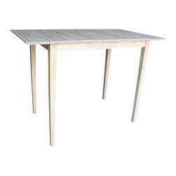 International Concepts - International Concepts Unfinished Rectangular Dining Table - International Concepts - Dining Tables - KT32X42S