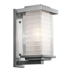 Kichler Lighting - Kichler Lighting KCH-49366-PL Ascari Modern / Contemporary Outdoor Wall Sconce - This versatile 1 light incandescent outdoor wall fixture from the Ascari™ collection makes a clean, understated statement. With its Platinum finish and Clear Outer Glass with Etched Inside Inner Glass, this design will enhance any space.
