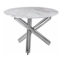 Nuevoliving - Nuevo Living Victoria Dining Table - White - Brown - HGTA286