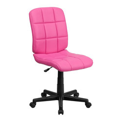 Flash Furniture - Flash Furniture Office Chairs Fabric Executive Swivels X-GG-KNIP-1-1961-OG - This contemporary designed computer chair will highlight a dull or attractive work space. Get away from the ordinary office chair with the attractive quilted, tufted upholstery. [GO-1691-1-PINK-GG]