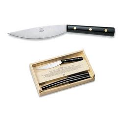 Match - Valdichiana Black Lucite Steak Knives Set of 4 - Valdichiana Black Lucite Steak Knives Set of 4