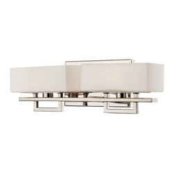 Lite Source - Lite Source LS-16502 Pascala 2 Light Swing Arm Lights/Wall Lamps in Chrome - 2-Lite Vanity Lamp, Chrome/Frost Glass Shade, Jcd/G9 40Wx2