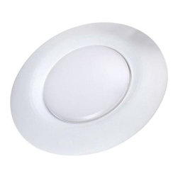 Unbranded - Unbranded 6 in. Soft White LED Disk Light For Recessed Can Lighting CE-JB6-650L- - Shop for Lighting & Fans at The Home Depot. The Commercial Electric 6 in. LED Disk Light by Cree makes it easy to upgrade your existing lighting to energy efficient LED technology. The Disk Light can be installed in an existing recessed can or wherever a 4 in. junction box is installed - making it extremely versatile for both retro-fit and new installation. The semi recessed lens gives the appearance of a higher end recessed fixture and is instant on and fully dimmable. The LED disk Light is perfect for kitchens, hallways, bathrooms, closets, laundry, porches and garage work rooms.