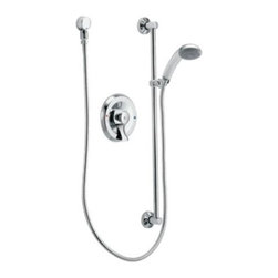Moen - Moen Commercial Single Handle Pressure Balancing Shower Only, Chrome (8346) - Moen Commercial 8346 Single Handle Pressure Balancing Shower Only, Chrome