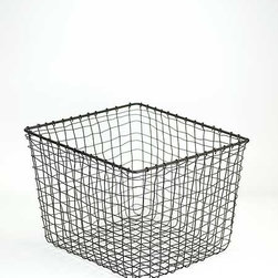 Wire Storage Basket, Medium - This basket would be a stylish place to store shoes, blankets or just about anything.