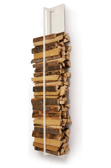 Contemporary Fireplace Accessories Tape Firewood Shelf
