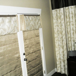 Master Bedroom Blackout Roman Shades - A Creative Touch Draperies & Interiors