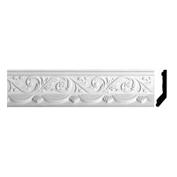 Renovators Supply - Cornice White Urethane Letreamont - Cornice - Ornate | 20794 - Cornices: Made of virtually indestructible high-density urethane our cornice is cast from steel molds guaranteeing the highest quality on the market. High-precision steel molds provide a higher quality pattern consistency, design clarity and overall strength and durability. Lightweight they are easily installed with no special skills. Unlike plaster or wood urethane is resistant to cracking, warping or peeling.  Factory-primed our cornice is ready for finishing.  Measures 4 3/4 inch H x 82 3/4 inch L.