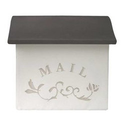Qualarc, Inc. - Wall Mount Stucco Composite Mailbox, Cocoa - Dea's Garden Mailbox Collection