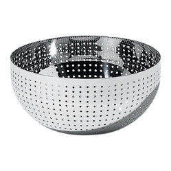 Alessi - Alessi Amfitheatrof Bowl - With this shimmering bowl, you can let a salad — or just about any side dish — be the shining star. Even when the bowl is empty, you'll be tempted to leave it on display to admire its eye-catching sparkle.