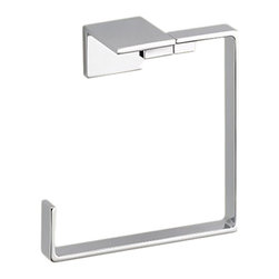 Delta - Delta 77746 Vero Towel Ring (Chrome) - Delta 77746 Vero Collection is inspired by the graceful and slim lines of a ribbon adding a high-end and modern look. The Delta 77746 is a Towel Ring in Chrome.