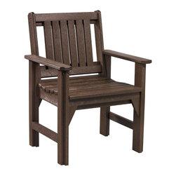 C.R. Plastic Products - C.R. Plastics Dining Arm Chair In Chocolate - C.R. Plastics Dining Arm Chair In Chocolate