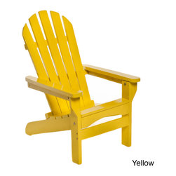 chateau designs - Kids Adirondack Patio Chair - Ideal for a patio or beach trip,the Kids Adirondack Chair has a beautiful and comfortable configuration which makes it practical. With a simple folding design,this compact chair is easy to pack for any trip and is easy to store when not being used.
