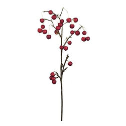 "Silver Nest - Crab Apple Branch- 37""h - We thought these branches were too cool not to share with you, but you do have to buy them in a bunch of 8. Priced per bunch"