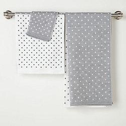 Morihata - Morihata Freckled Towel - Polka dots. Polka dots on towels. They never get old.