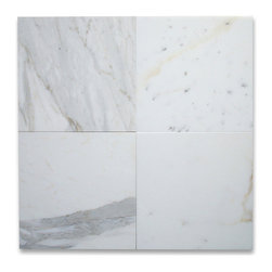Stone Center Corp - Calacatta Gold Marble Tile 12x12 Honed - Premium Grade Calacatta Marble Italian Calcutta Gold (Calcutta Oro and Calcutta Borghini) Honed 12 x 12 Wall & Floor Tiles are perfect for any interior/exterior projects such as kitchen backsplash, bathroom flooring, shower surround, countertop, dining room, hall, lobby, corridor, balcony, terrace, spa, pool, etc. Our large selection of coordinating products is available and includes hexagon, herringbone, basketweave mosaics, subway tiles, moldings, borders, and more.