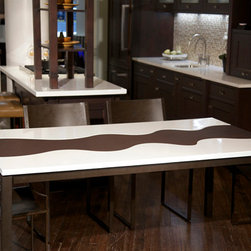 Janus Collection - Italian hand-made ceramic glazed table.