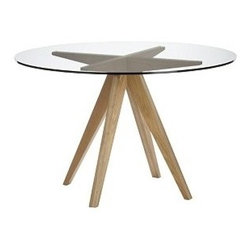 Teepee Dining Table - This table achieves that perfect kind of balance between industrial and modern style. It's clean and modern, but simple enough to remain a classic. Perfect for a breakfast nook, a small apartment, or a couple!