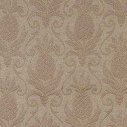 Olive Green Pineapples Woven Matelasse Upholstery Grade Fabric By The Yard - This material is great for indoor upholstery applications. This Matelasse is rated heavy duty, and is upholstery weight. It is woven for enhanced appearance.