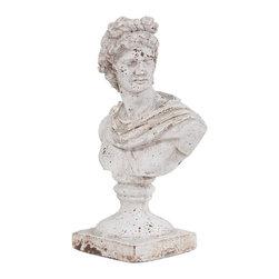Howard Elliott - Old World Ceramic Female Ceramic Bust - Old World Ceramic Female Ceramic Bust