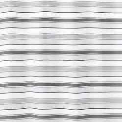 Striped Fabric Shower Curtain