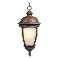 Maxim Lighting - Maxim Lighting 85468SFSE Knob Hill EE 1-Light Outdoor Hanging Lantern in Sienna - Knob Hill EE is a traditional, early American style, energy saving collection from Maxim Lighting International in Sienna finish with Snow Flake glass.