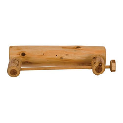 Fireside Lodge Furniture - Cedar Log Paper Towel Holder - Cedar Collection. Northern White Cedar logs are hand peeled to accentuate their natural character and beauty. Clear coat catalyzed lacquer finish for extra durability. 2-Year limited warranty. 16.5 in. W x 5 in. D x 4 in. H (2 lbs.)