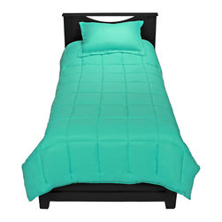 TwinXL - Turquoise Twin XL Comforter Set By Ivy Union - Enjoy a premium extra long comforter with this luxurious Twin XL Comforter set by Ivy Union. Soft brushed knit fabric shell with baffle box design helps control even temperature dispersion. All season weight comforter with durable double needle edging.