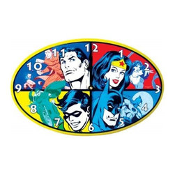 Westland - 9 Inch Colorful DC Comics Collage of Super Heroes Wall Clock - This gorgeous 9 Inch Colorful DC Comics Collage of Super Heroes Wall Clock has the finest details and highest quality you will find anywhere! 9 Inch Colorful DC Comics Collage of Super Heroes Wall Clock is truly remarkable.