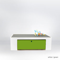 parker playtable with chalkboard top - Reversible gray chalkboard / painted top.