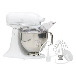 KitchenAid Artisan White Stand Mixer - Clean and pristine, this stand mixer is the one appliance that you would want to leave on the counter.