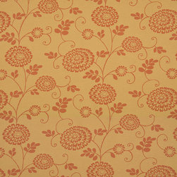 Gold And Orange Floral Vines Indoor Outdoor Upholstery Fabric By The Yard - P501011 is great for residential and commercial applications, and can be used outdoors and indoors. This fabric will exceed at least 35,000 double rubs (15,000 is considered heavy duty), and is easy to clean and maintain. In addition, this product is stain, water, mildew, bacteria and fade resistant. For superior quality and performance, this fabric is woven and solution dyed.