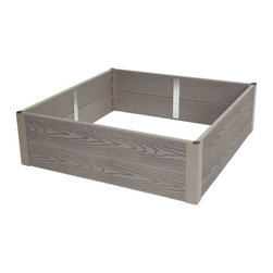 Gardener's Supply Company - Forever Raised Bed, 3' X 3' - Forever Raised Beds are easy to install in minutes and they last for a lifetime. These durable beds resemble Cedar but are made from a composite material that will make your raised bed garden stand out.