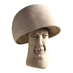 Carruth Studio - A Fungi Wall Plaque - 1168 - Shop for Wall Art from Hayneedle.com! He really is a fun guy! The A Fungi Wall Plaque is the perfect addition to any garden patio or kitchen. This mushrooms sly smirk creates a contagious jestful mood that's sure to liven up any setting. This ornament is crafted of cast stone by a skilled sculptor with over 25 years of experience. A variety of finishes are available to best match your home.About Carruth StudioWe've chosen to carry Carruth Studio designs based on their integrity and authentic dedication to aesthetics. Since 1983 sculptor George Carruth has been creating whimsical images out of limestone concrete and clay all with one thing in common: the ability to make people smile. With a nod toward the world of nature Carruth's signature works include a menagerie of bunnies cats frogs and other delightful creatures flowers angels celestial bodies and magical beings. The company is located in Ohio. We think you'll find Carruth designs lovely and interesting a perfect choice for your outdoor area.