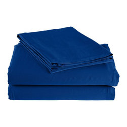 300 Thread Count California King Sheet Set Bamboo Solid - Smoke Blue - As soft as silk and as durable as cotton, these bamboo derived sheets are at the meeting point of style, comfort and durability. Made from 100% Bamboo derived Rayon, this set of sheets allows your body to breathe in the summer while keeping you warm in the winter. Set includes One Flat Sheet 111x105, One Fitted Sheet 74x86, and Two Pillowcases 21x42 each.