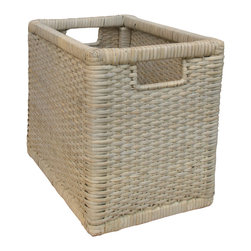 Tradewinds - Handmade Basket - Rectangular in shape and hand grip to its side, it is helpful when spreading clothes under sun or storing your dirty clothes and is also helpful when taking out clothes from the washing machine. Handmade using premium quality of materials, it is available in 2 different sizes.