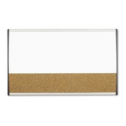 Quartet 30 x 18 in. Dry Erase / Cork Bulletin Board - A multifunctional board, the Quartet 30 x 18 in. Dry Erase / Cork Bulletin Board is ideally suited for use in office environments. This board will enable you to write important messages and even stick or pin-up paper documents. The high quality of the magnetic dry erase and cork surfaces will help this board last for many years. Adding to its sturdiness is its aluminum frame. Using its height-adjustable clips, you can keep it straight and leveled while installing it.About United StationersDedicated to making life in the office more organized, efficient, and easier, United Stationers offers a wide variety of storage and organizational solutions for any business setting. With premium products specifically designed with the modern office in mind, we're certain you will find the solution you are looking for.From rolling file carts to stationary wall files, every product in the United Stations line is designed with one simple goal: to improve office efficiency. In turn, you will find increased productivity, happier, more organized employees, and an office setting that simply runs better, with the ultimate goal of increasing bottom line profits.