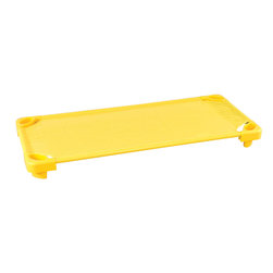 Ecr4kids - Ecr4Kids Home Indoor Kidsroom Stackable Kolor Kots -Yellow - Single Assembled - Set of 4 cot casters creates a cot dolly when used with ECR Kolor Kots.Fits ECR Kolor Kots to create a Kiddie Kot dolly. Set of 4 includes (2) locking and (2) non-locking casters.
