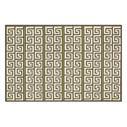 "Loloi - Loloi Palm Springs Pm-05 Brown / Green Rug 9'-3"" X 13' - For the first time ever, world renowned designer Dann Foley brings his eye for great design and modern living to outdoorrugs. With patterns and colors as dynamic as Dannes persona, the Palm Springs Collection reflects Dannes passion forfun outdoor decorating. Palm Springs is hand hooked in China of 100% polypropylene thates specially treated to befade-resistant in spite of regular sunshine or rain."