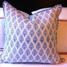 indigo block print cushions 50x50cm by belljarinteriors on Etsy