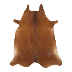 Safavieh - Safavieh Cow Hide Rug with Brown X-5-G112HOC - Produced in Argentina, the Safavieh cowhide rug offers exceptional decorator quality and design.  The hand woven superior skins are handpicked to ensure natural appearance and quality will endure over time.