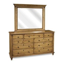 Durham Furniture - Durham Furniture Summerset Signature Triple Dresser in Aged Wheat - Durham Furniture has been making solid wood furniture of the highest quality and enduring value since 1899. Our proud legacy of quality, integrity and dependability places us among North America's premier manufacturers of fine furniture.