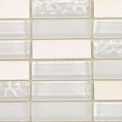 "Loft Condensation Blend Glass Tile - sample-LOFT CONDENSATION 1/4 SHEET GLASS TILES SAMPLE You are purchasing a 1/4 sheet sample measuring approximately 3 "" x 12 "". Samples are intended for color comparison purposes, not installation purposes.-Glass Tile -"