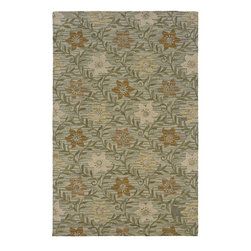 Rizzy Rugs - Country & Floral Country Round 8' Round Green Area Rug - The Country area rug Collection offers an affordable assortment of Country & Floral stylings. Country features a blend of natural Green color. Hand Tufted of New Zealand Wool Blend the Country Collection is an intriguing compliment to any decor.