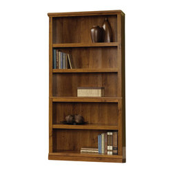 Sauder - Sauder Storage Five Shelf Bookcase in Abbey Oak Finish - Sauder - Bookcases - 410175