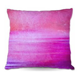 DiaNoche Designs - Pillow Woven Poplin - Infusion of Color I - Toss this decorative pillow on any bed, sofa or chair, and add personality to your chic and stylish decor. Lay your head against your new art and relax! Made of woven Poly-Poplin.  Includes a cushy supportive pillow insert, zipped inside. Dye Sublimation printing adheres the ink to the material for long life and durability. Double Sided Print, Machine Washable, Product may vary slightly from image.