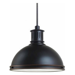 Sea Gull Lighting - 3-Light Pendant, Autumn Bronze - 65087-715 Sea Gull Lighting Pratt Street Metal 3-Light Pendant with a Autumn Bronze Finish