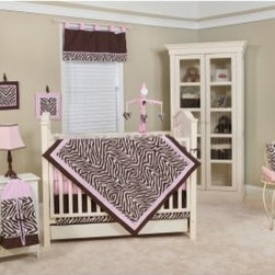 Zara Zebra 10-piece Crib Bedding Set - About Pam Grace CreationsPam Grace Creations was created by Pam Val, a loving wife and mother of four, in January of 2006. Pam had seven years of experience in the baby bedding and nursery decor industry from working with her sister to run their own baby product business. She brought this experience and knowledge of the industry to her own company, and Pam Grace Creations was born. Pam is committed to providing new parents a combination of style, affordability, and convenience, and to that end she created her Nursery-to-Go 10 piece baby bedding sets. These sets include everything parents need to outfit their new baby's room in a range of styles and color palettes at an affordable price--without having to hunt down their nursery items piece by piece.